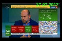 Григорий Бегларян — Прогноз по рублю и нефти на август (27.07.2017)
