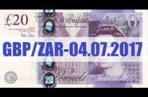 ПРОГНОЗ ФОРЕКС. GBP/ZAR — 04.07.2017.