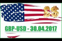 GBPUSD — 30.04.2017. ПРОГНОЗ РЫНКА ФОРЕКС.