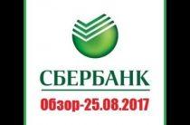 ПРОГНОЗ СБЕРБАНКА (SBER) — 25.08.2017.