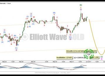 Gold Elliott Wave Technical Analysis — 31st May, 2017