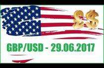 ФОРЕКС ПРОГНОЗ. GBP/USD — 29.06.2017.